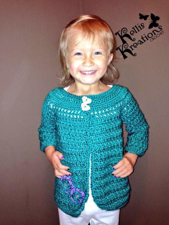Criss Cross Applesauce  Criss Cross Applesauce Girls Sweater Cardigan vest by