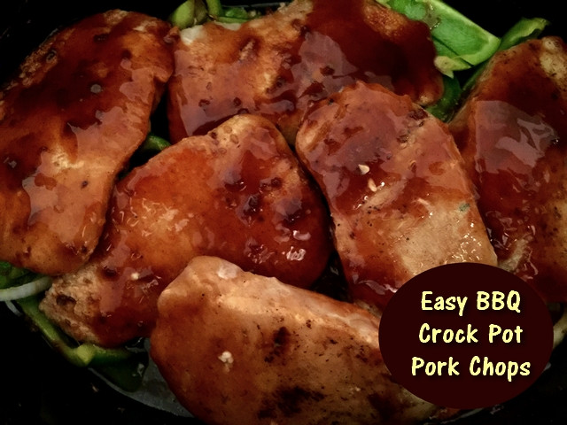Crock Pot Bbq Pork Chops  Moms Pantry Recipe Easy BBQ Crock Pot Pork Chops