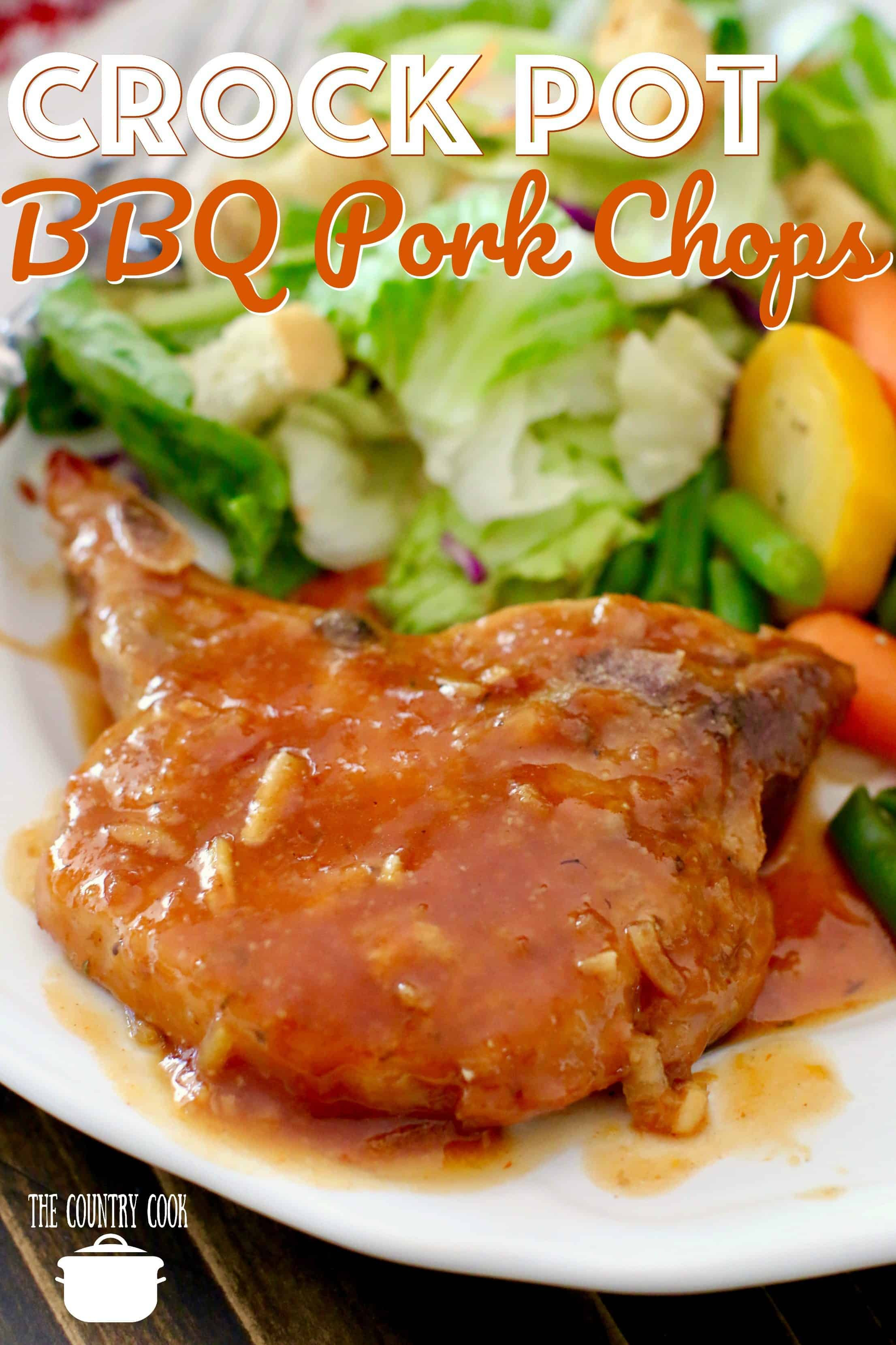 Crock Pot Bbq Pork Chops  Crock Pot BBQ Pork Chops The Country Cook