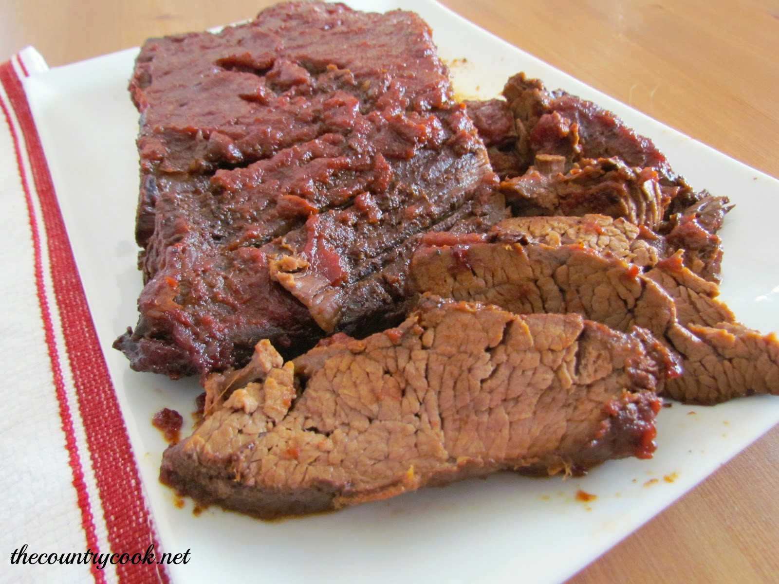 Crock Pot Beef Brisket  Crock Pot BBQ Beef Brisket The Country Cook