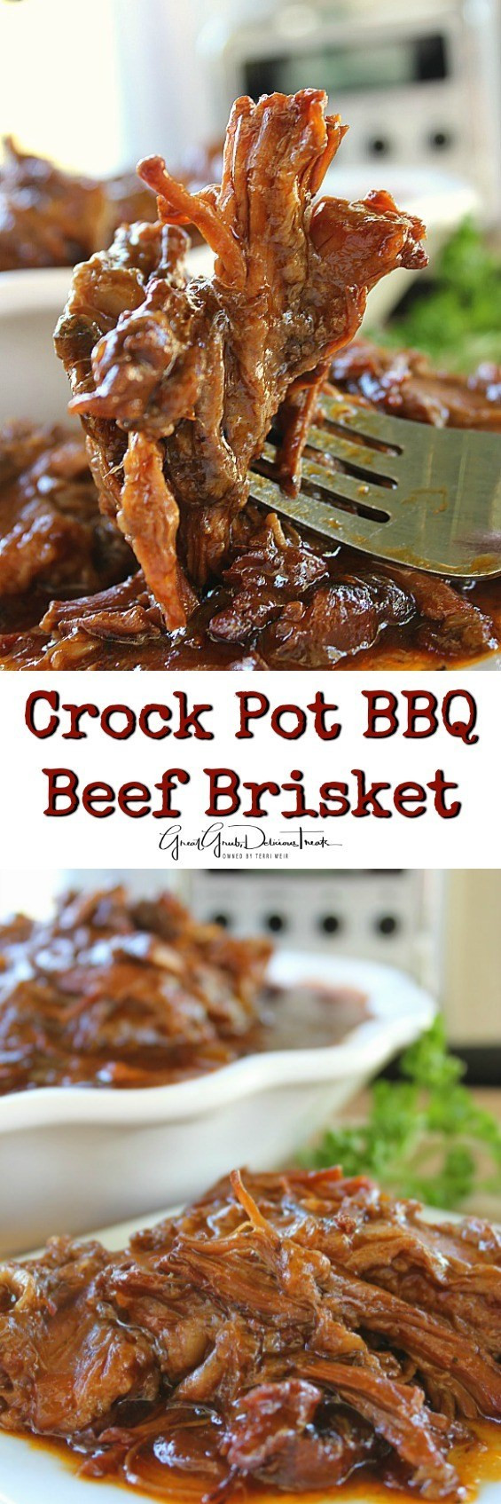 Crock Pot Beef Brisket  Crock Pot BBQ Beef Brisket Great Grub Delicious Treats