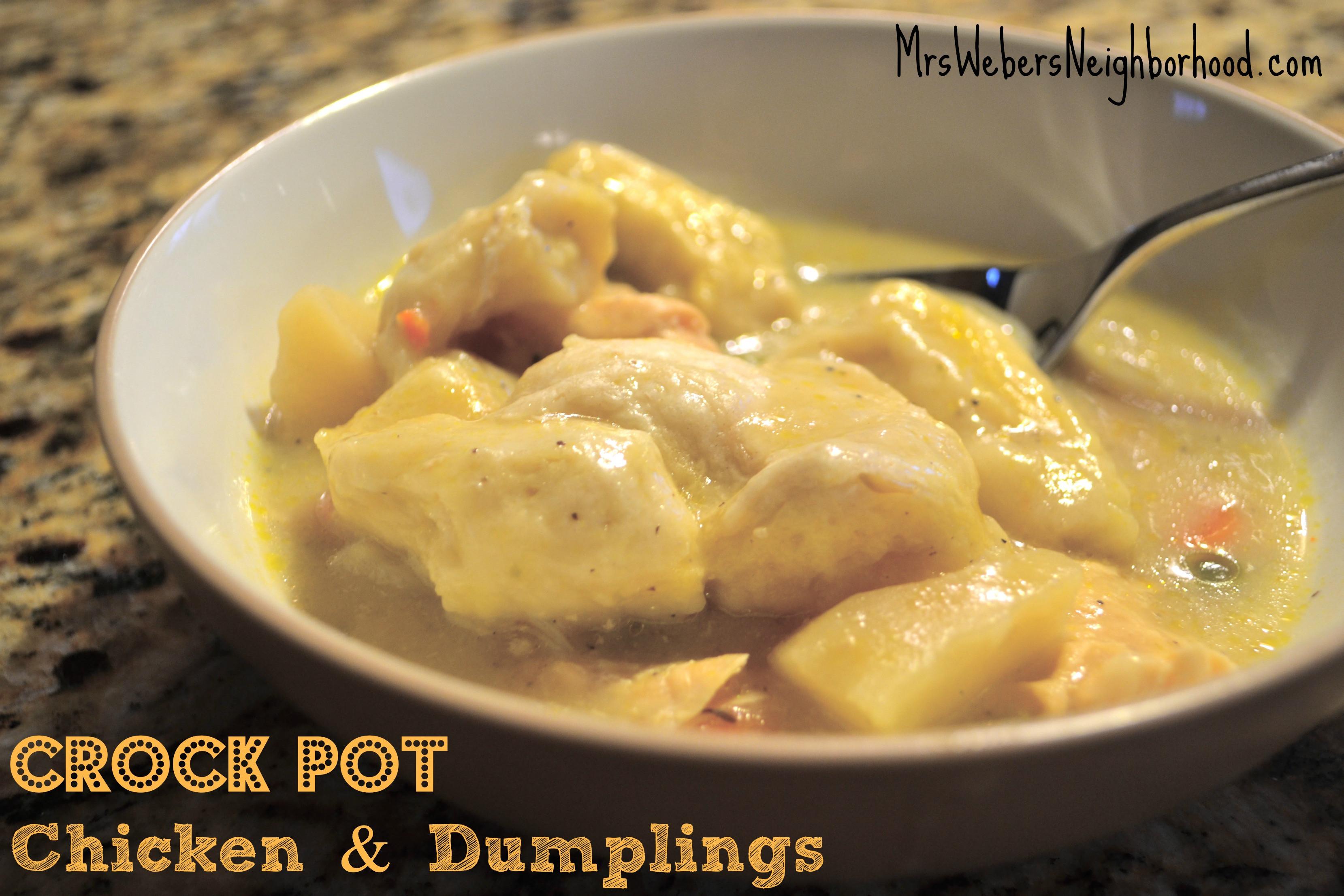 Crock Pot Chicken And Dumplings  Recipe Crock Pot Chicken and Dumplings