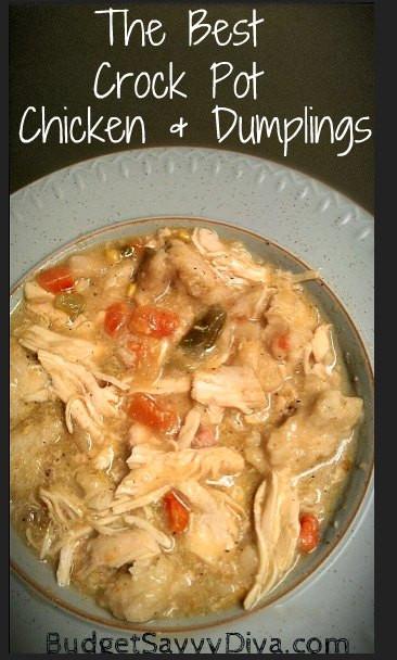Crock Pot Chicken And Dumplings  The Best Crock Pot Chicken and Dumplings Recipe