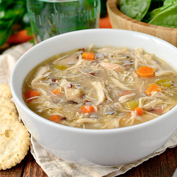 Crock Pot Chicken Soup  Crock Pot Chicken and Wild Rice Soup Healthy Crock Pot