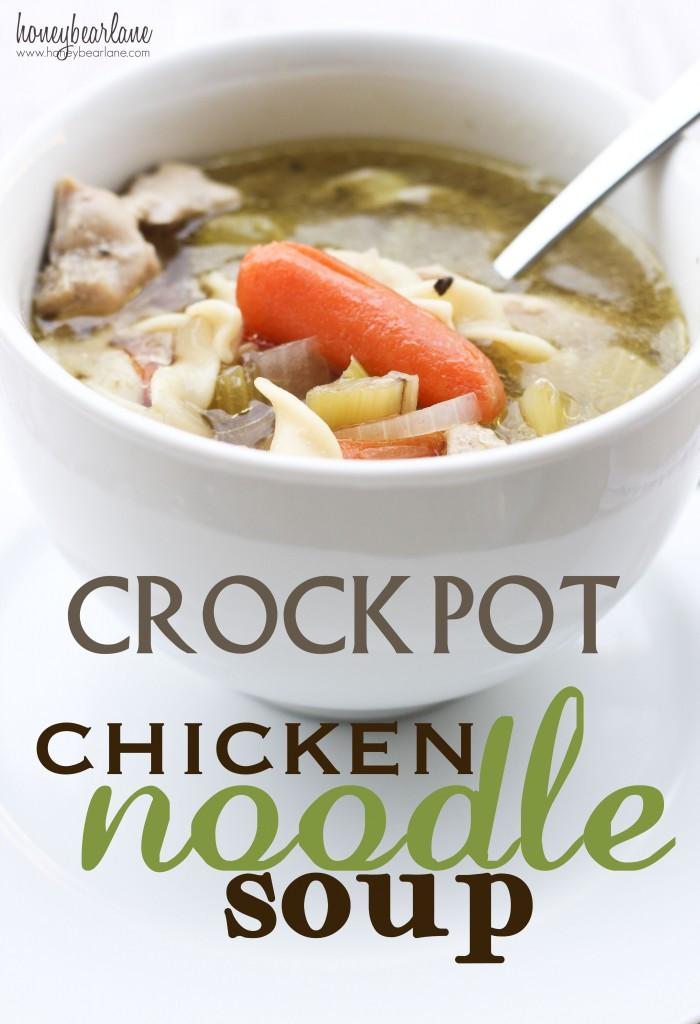 Crock Pot Chicken Soup  Crockpot Chicken Noodle Soup