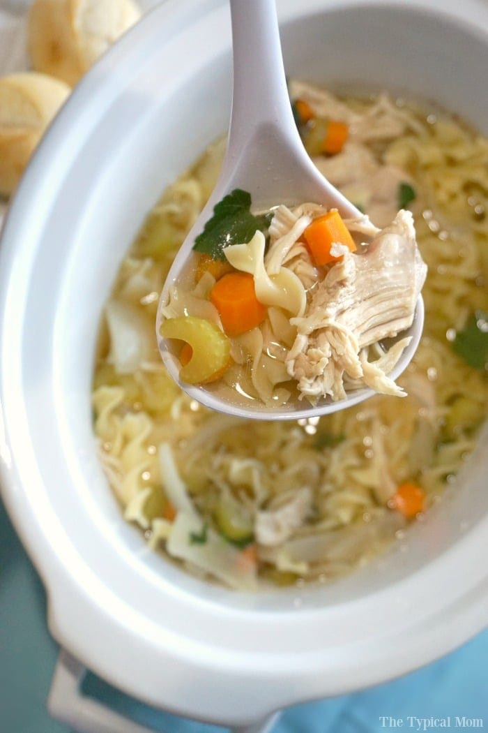 Crock Pot Chicken Soup  Chicken soup in the crockpot · The Typical Mom