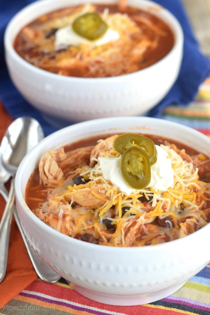 Crock Pot Chicken Soup  Crock Pot Chicken Tortilla Soup Wine & Glue