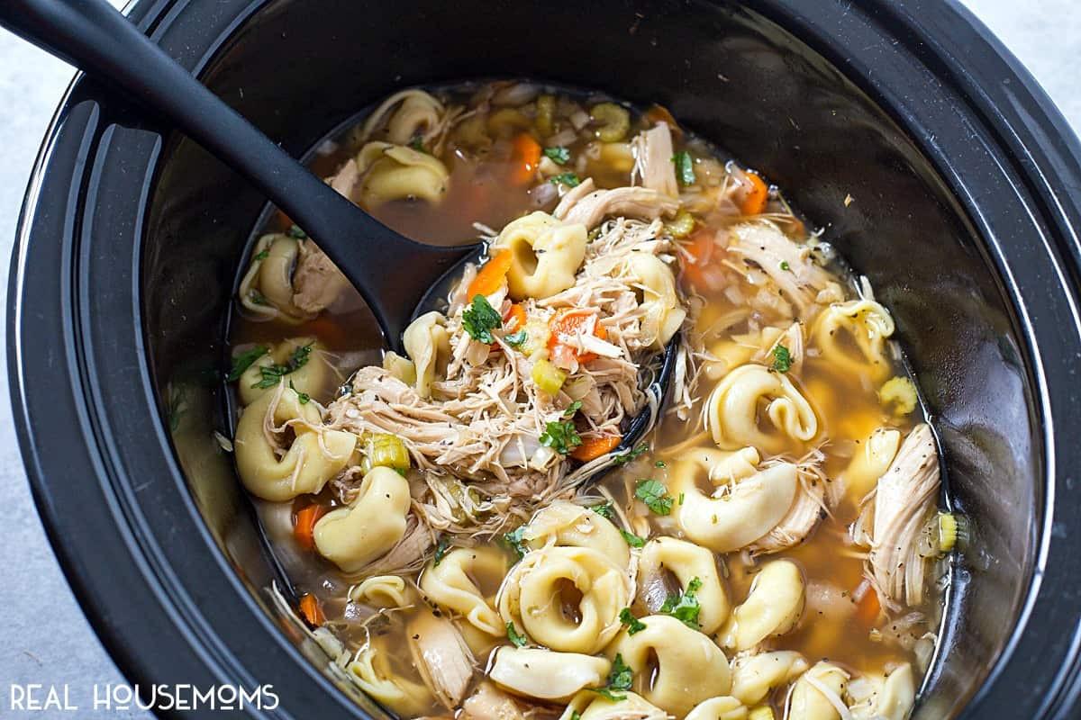 Crock Pot Chicken Soup  Crock Pot Chicken Tortellini Soup ⋆ Real Housemoms