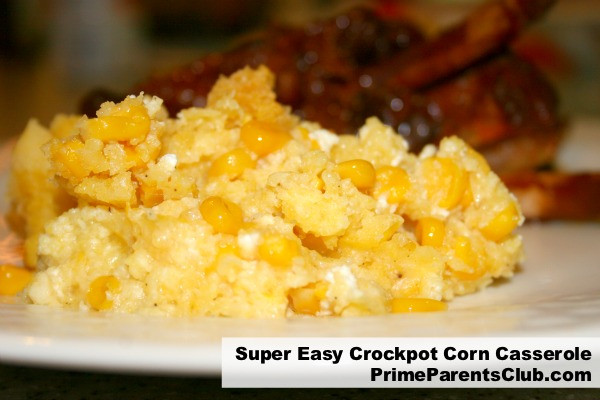 Crock Pot Corn Casserole  Crock Pot Recipes