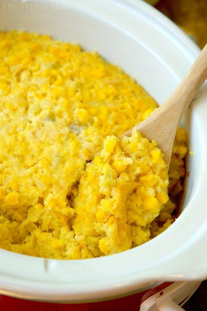 Crock Pot Corn Casserole  Easy Crockpot Corn Casserole Recipe · The Typical Mom