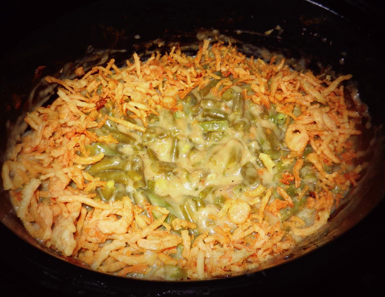 Crock Pot Green Bean Casserole  Cookin Stuff Green Bean Casserole Crock Pot