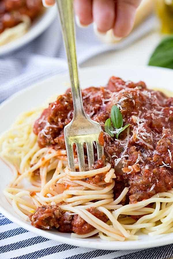 Crock Pot Spaghetti Sauce  Weekly Menu Plan 75