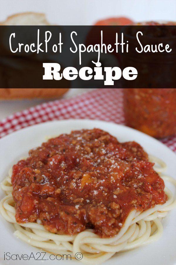 Crock Pot Spaghetti Sauce  Crock Pot Spaghetti Sauce iSaveA2Z
