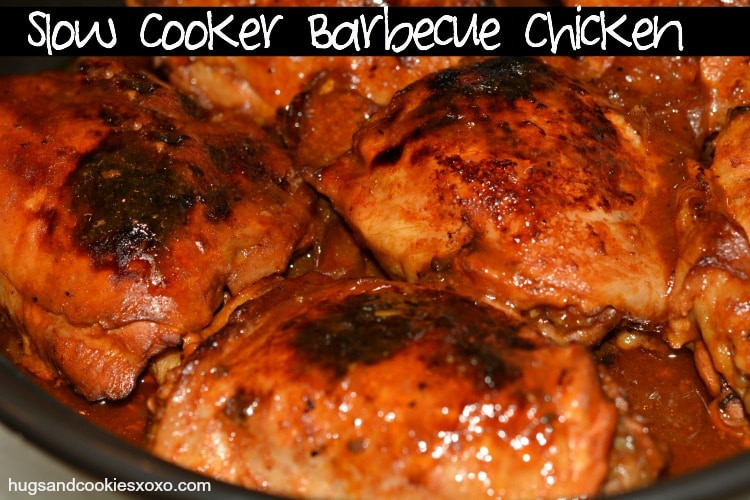 Crockpot Bbq Chicken Thighs  2 Ingre nt Slow Cooker Barbecue Chicken Hugs and