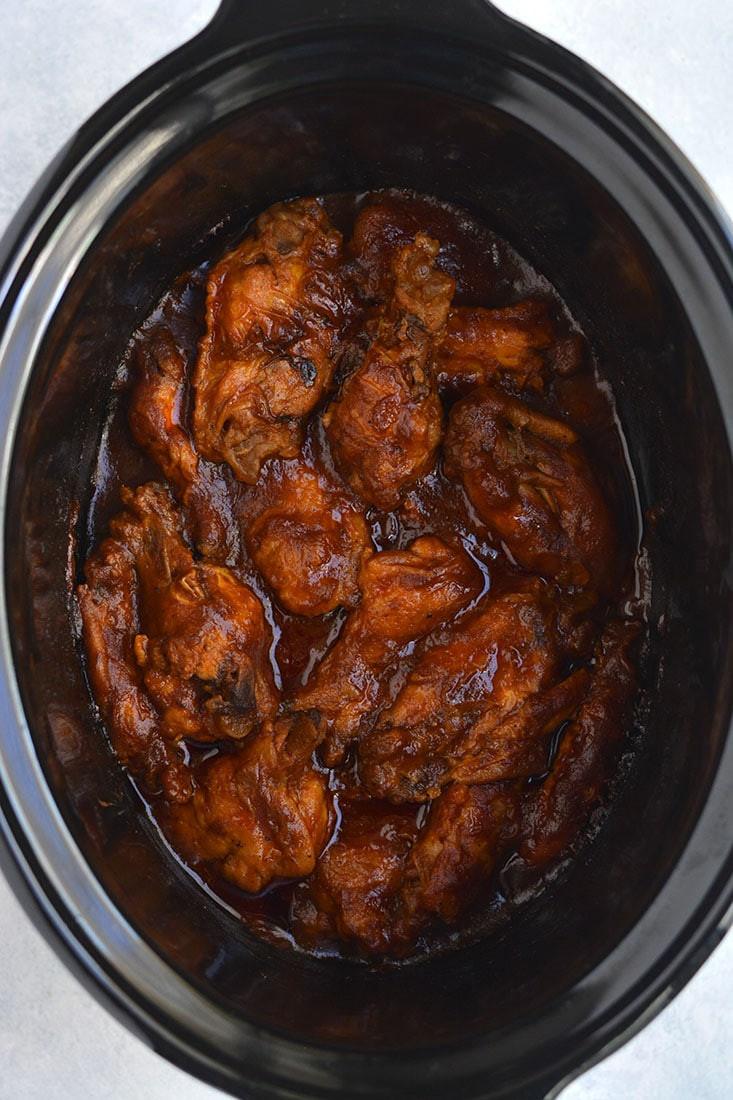 Crockpot Bbq Chicken Wings  Healthy Crockpot BBQ Wings GF Paleo Low Cal Skinny