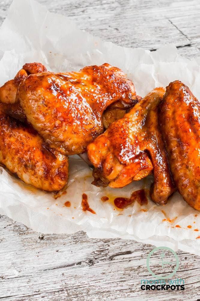 Crockpot Bbq Chicken Wings  Crockpot BBQ Chicken Wings Moms with Crockpots