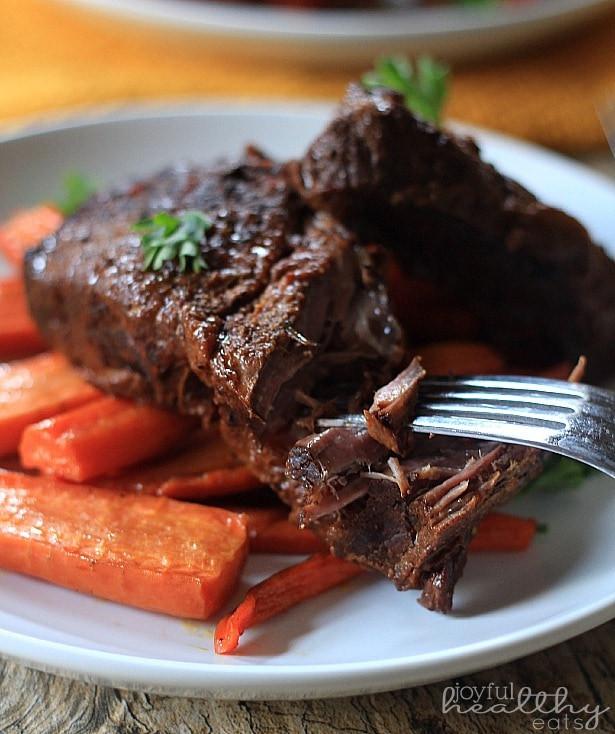 Crockpot Beef Short Ribs  Balsamic Braised Beef Short Ribs Paleo Recipes