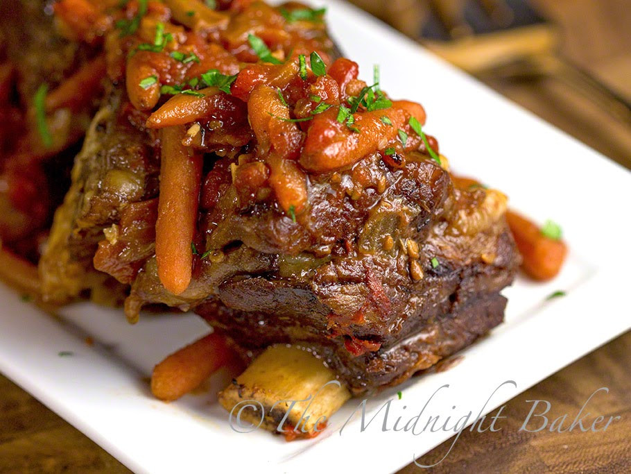 Crockpot Beef Short Ribs  Slow Cooker Braised Short Ribs The Midnight Baker