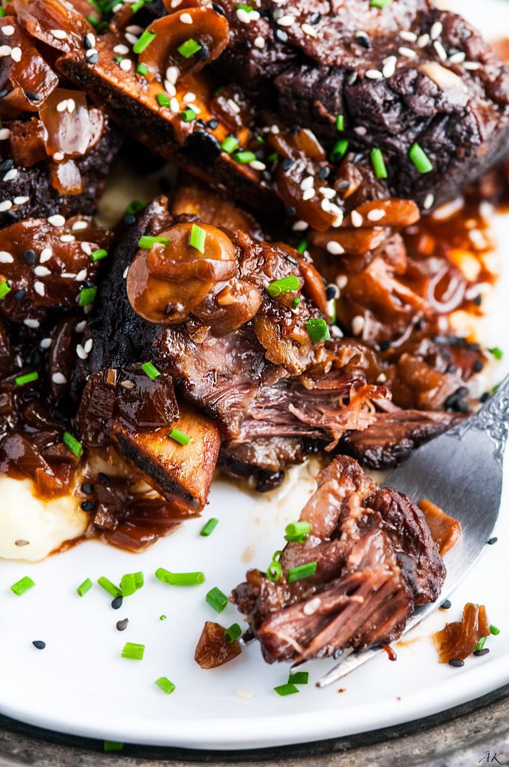 Crockpot Beef Short Ribs  Crockpot Chocolate Stout Beef Short Ribs Aberdeen s Kitchen