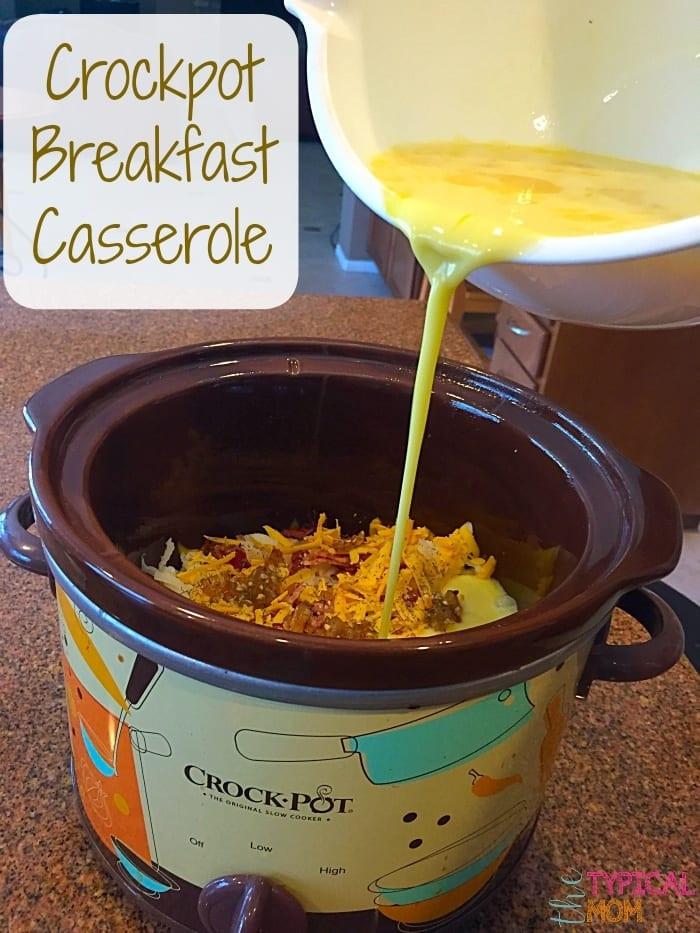 Crockpot Breakfast Casserole Recipe  Crockpot Breakfast Casserole Recipe · The Typical Mom