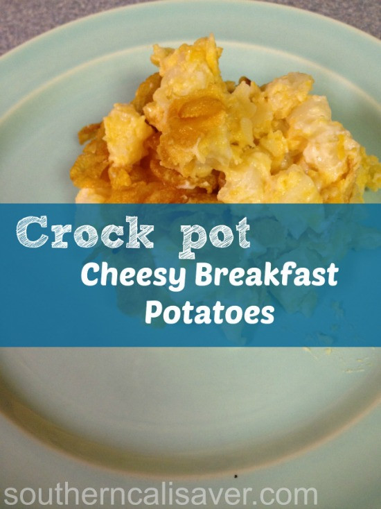 Crockpot Breakfast Potatoes  Crockpot Cheesy Breakfast Potatoes The Sassy Slow Cooker