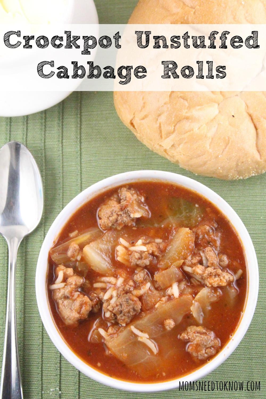 Crockpot Cabbage Roll Soup  Crockpot Unstuffed Cabbage Rolls Soup
