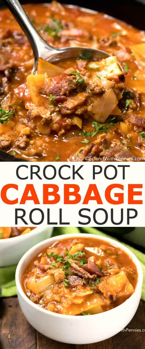 Crockpot Cabbage Roll Soup  Crock Pot Cabbage Roll Soup Spend With Pennies