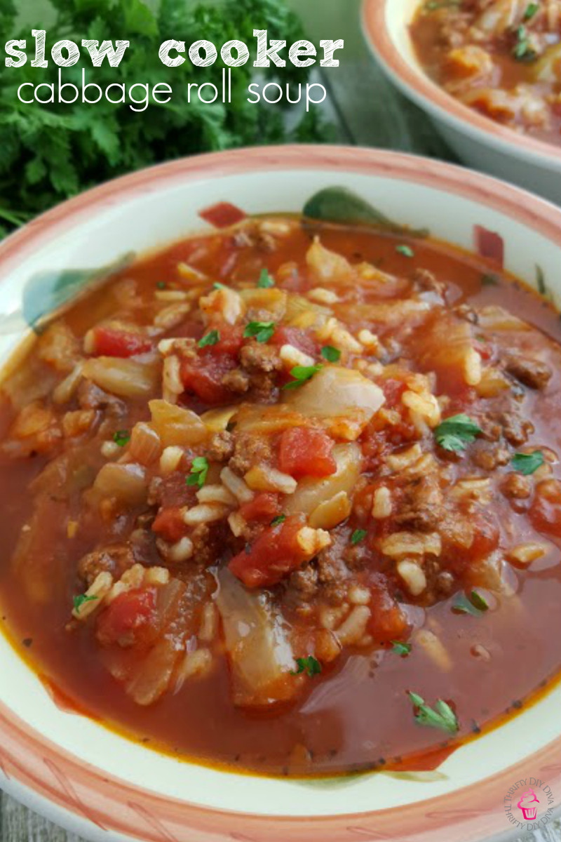 Crockpot Cabbage Roll Soup  Slow Cooker Cabbage Roll Soup