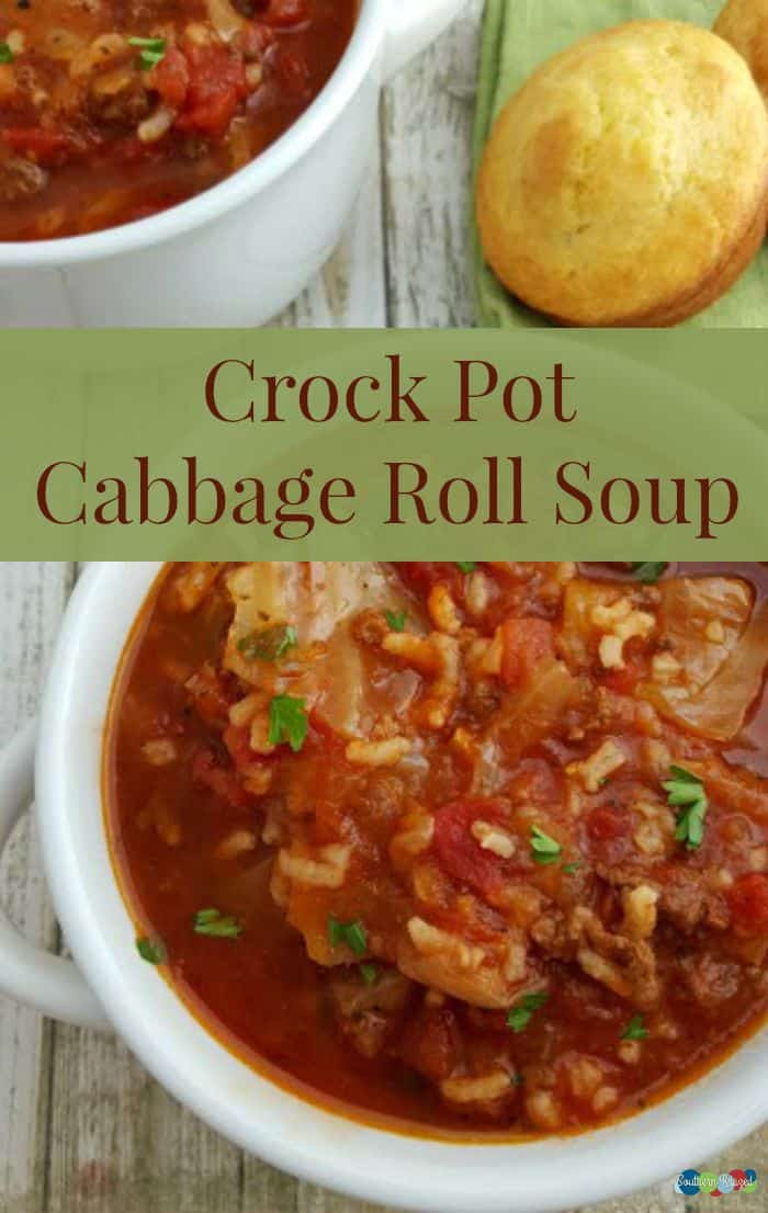 Crockpot Cabbage Soup  20 Crock Pot Soup Recipes Love Pasta and a Tool Belt