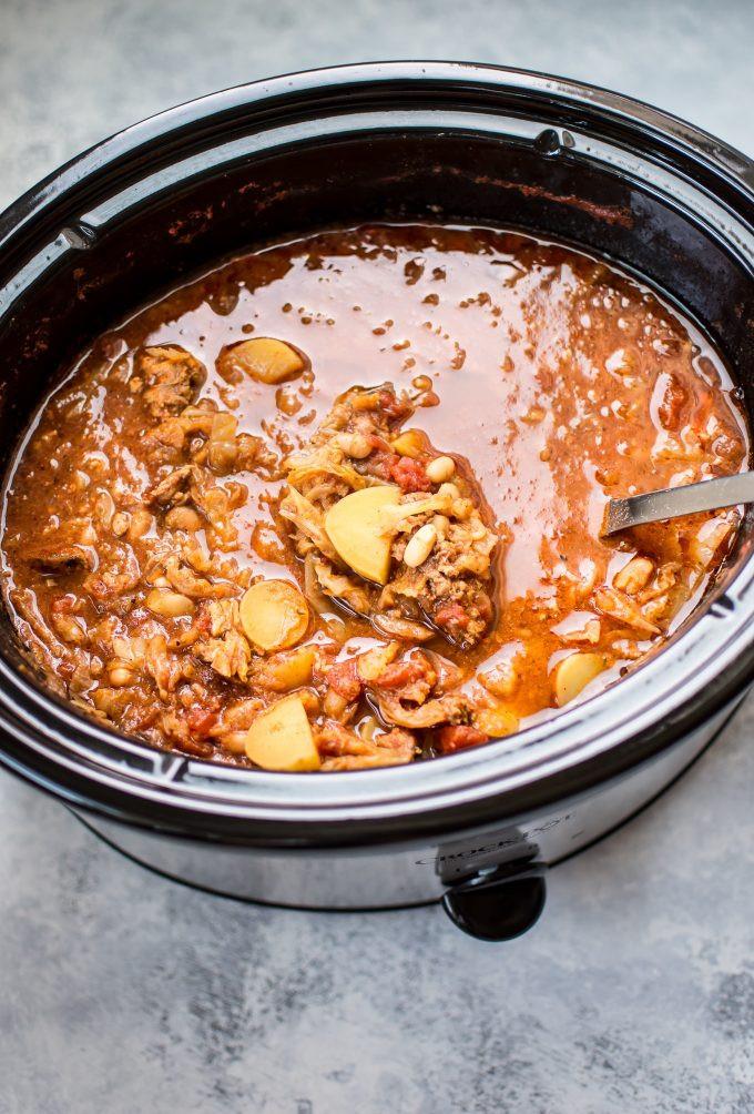 Crockpot Cabbage Soup  Crockpot Cabbage Soup with Beans Sausage and Potatoes