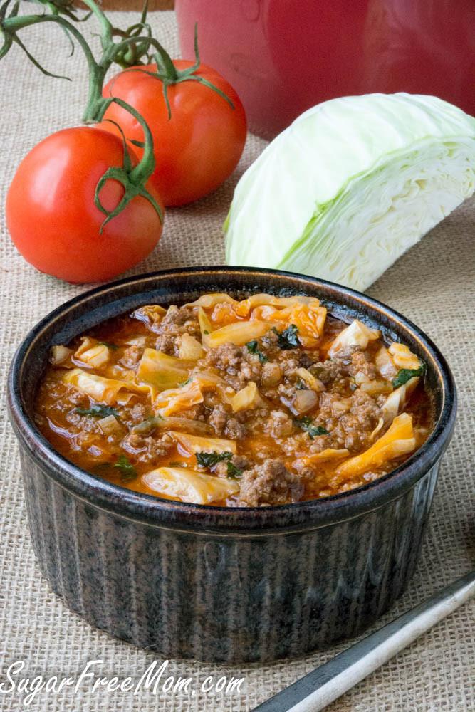 Crockpot Cabbage Soup  Crock Pot Low Carb Un Stuffed Cabbage Roll Soup