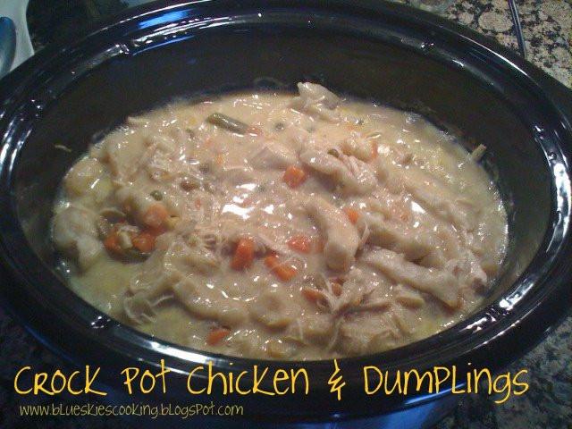 Crockpot Chicken And Dumplings With Grands Biscuits  Tastefully Done Crock Pot Chicken & Dumplings