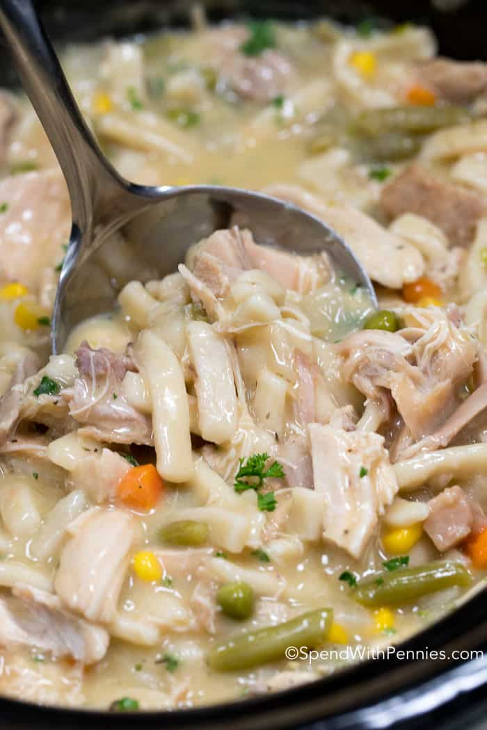 Crockpot Chicken And Noodles  Crock Pot Chicken and Noodles Spend With Pennies