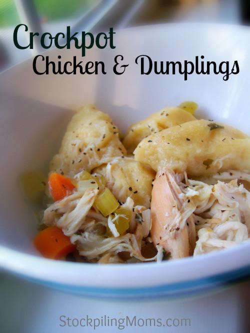 Crockpot Chicken Dumplings  Crockpot Chicken and Dumplings