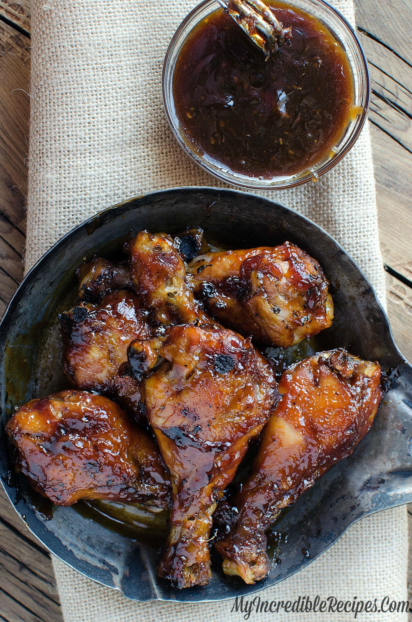 Crockpot Chicken Legs  Sticky Sweet Bacon Glazed Chicken in the Crock Pot