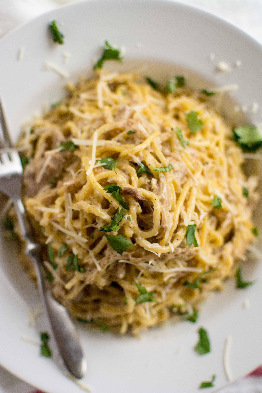 Crockpot Chicken Spaghetti  Slow Cooker Simple Chicken Spaghetti Slow Cooker Gourmet
