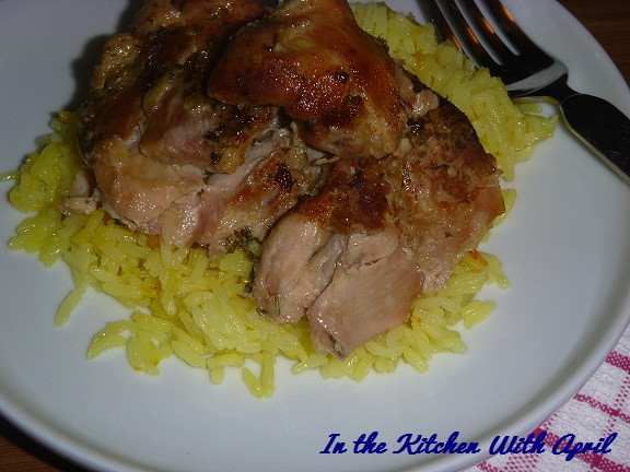 Crockpot Chicken Thighs And Rice  Slow Cooker Chicken Thighs With Saffron Rice In The