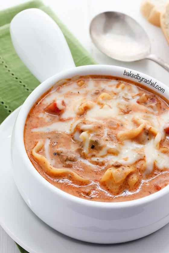 Crockpot Lasagna Soup  Slow Cooker Lasagna Soup