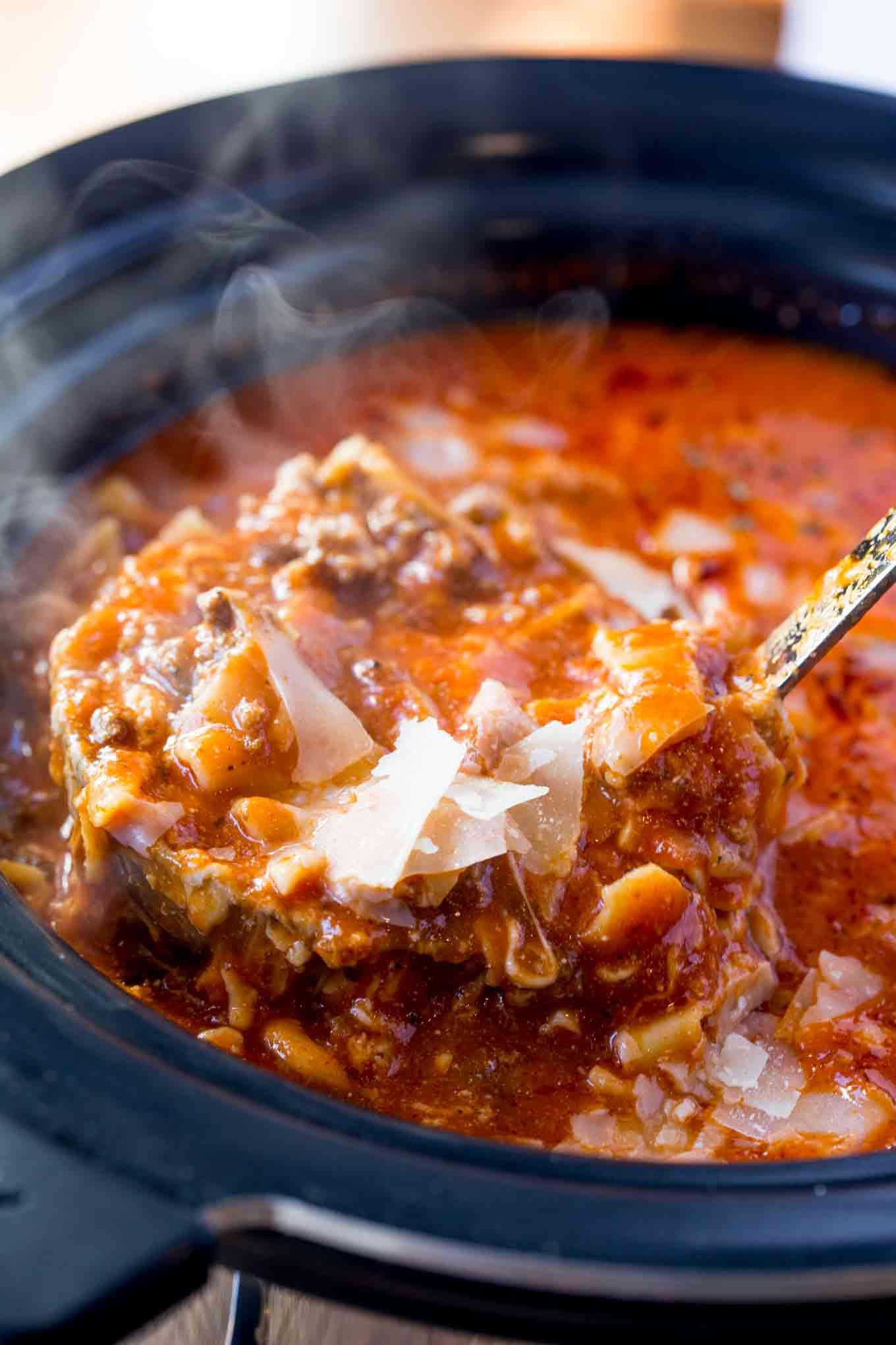 Crockpot Lasagna Soup  Slow Cooker Lasagna Soup Dinner then Dessert