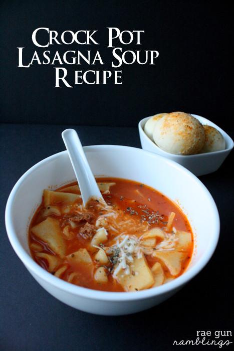 Crockpot Lasagna Soup  Crock Pot Lasagna Soup Recipe and Other Football Party