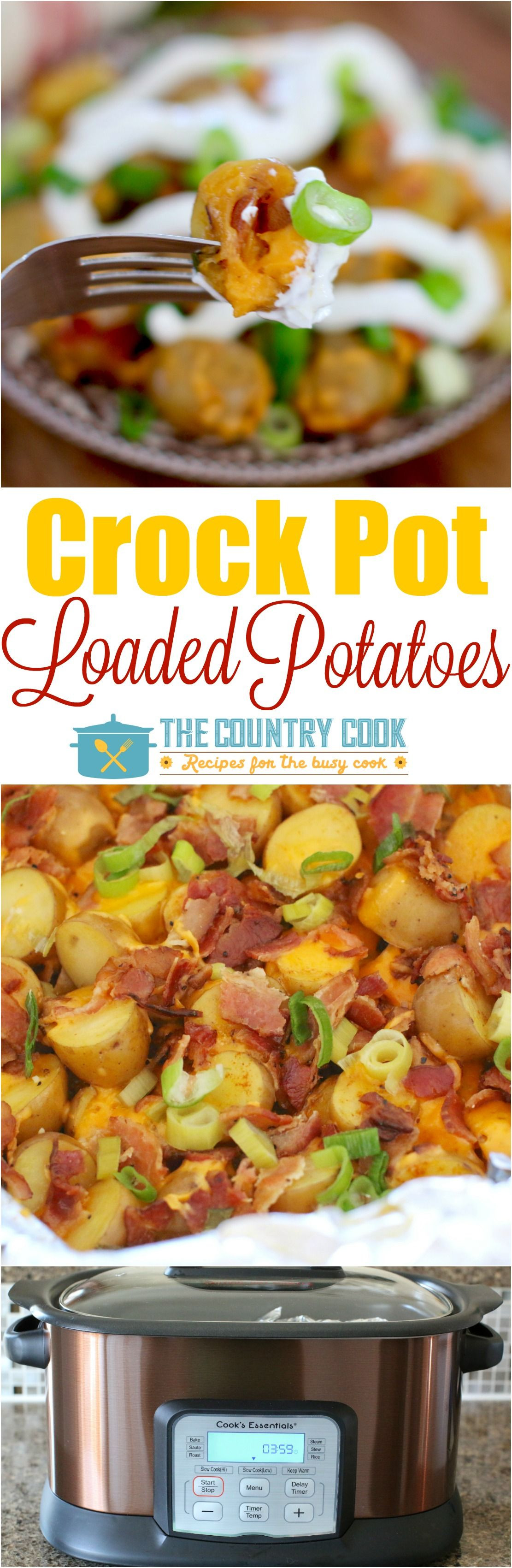 Crockpot Potato Recipes  Loaded Crock Pot Little Potatoes Recipe