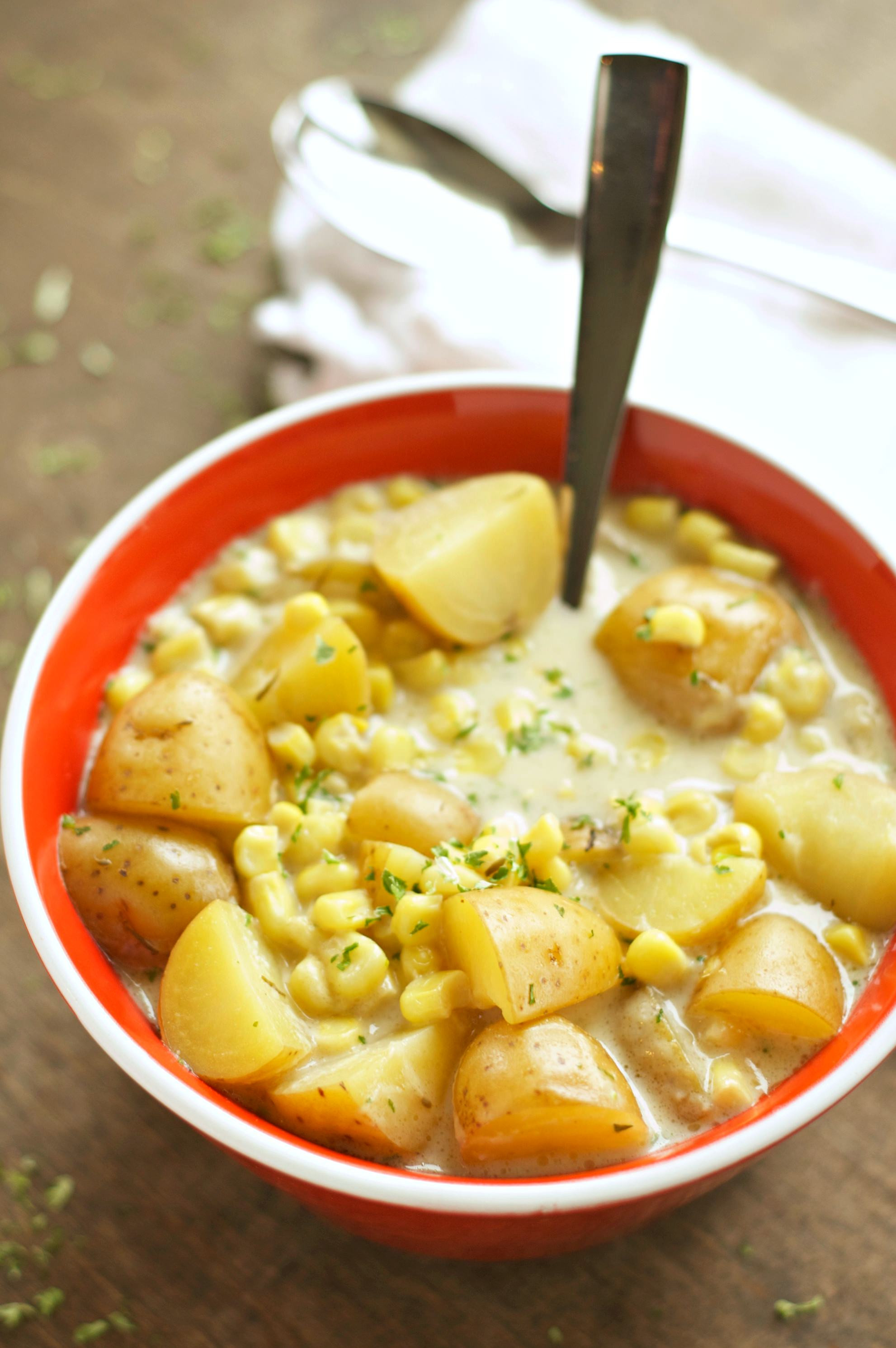 Crockpot Potato Recipes  Slow Cooker Corn and Potato Chowder