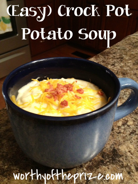 Crockpot Potato Soup Recipe  worthyoftheprize Paula Deen Easy Crock Pot Potato Soup