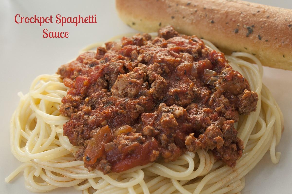 Crockpot Spaghetti Sauce  A Dash of Sunshine Crockpot Spaghetti Sauce