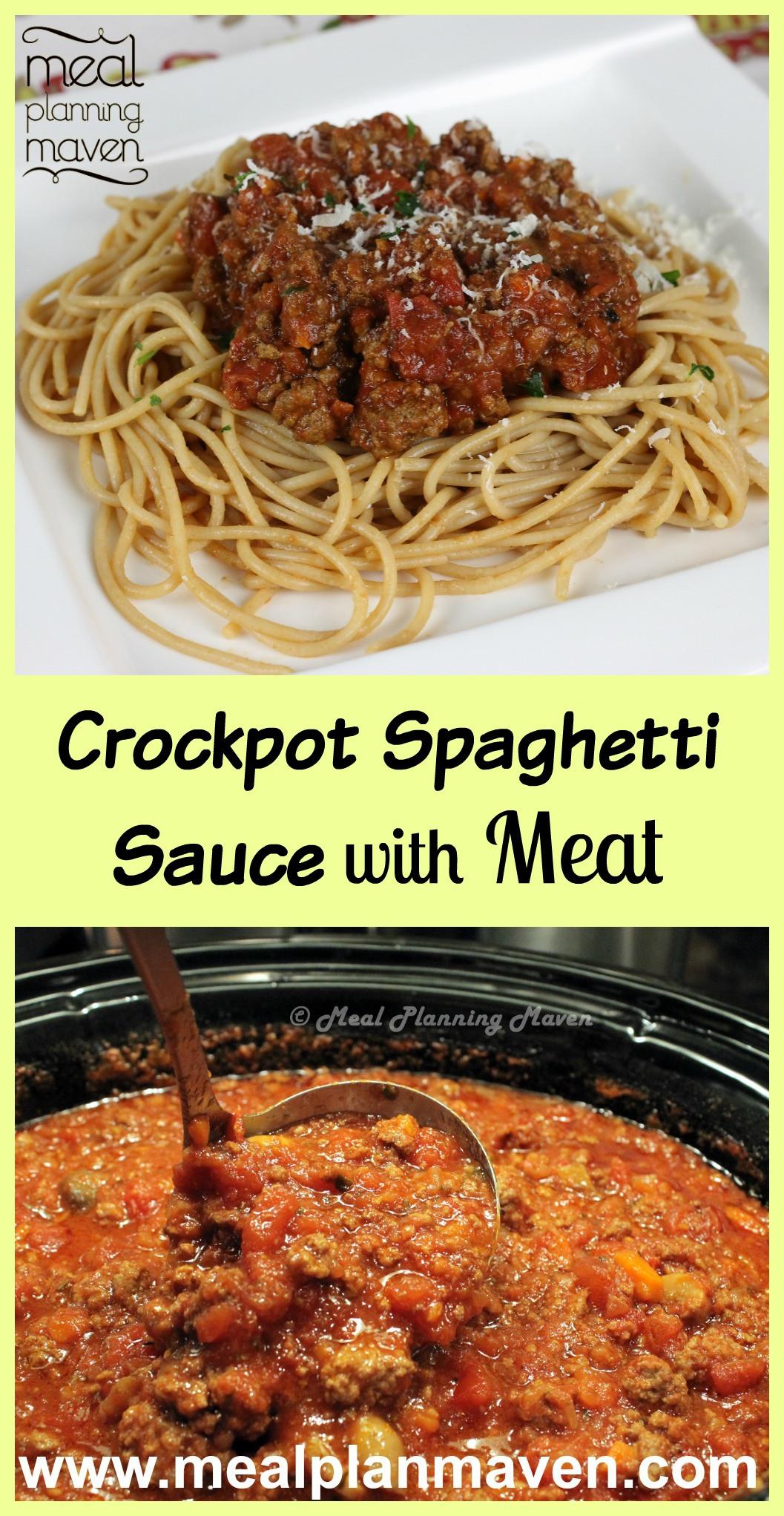 Crockpot Spaghetti Sauce  Crock Pot Meaty Pasta Sauce Recipe — Dishmaps