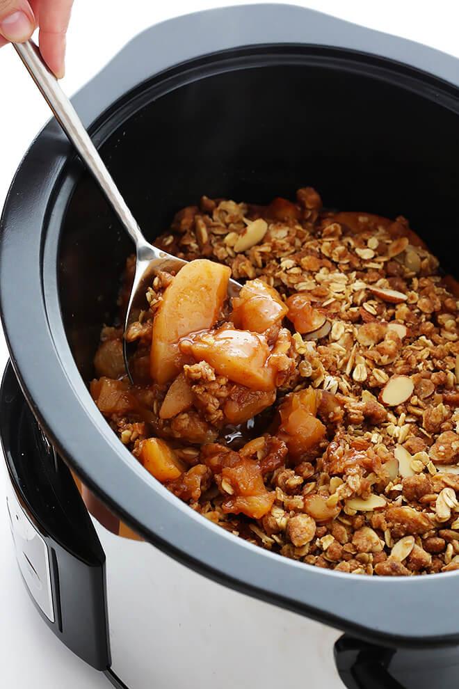 Crockpot Vegan Recipes  Slow Cooker Apple Crisp