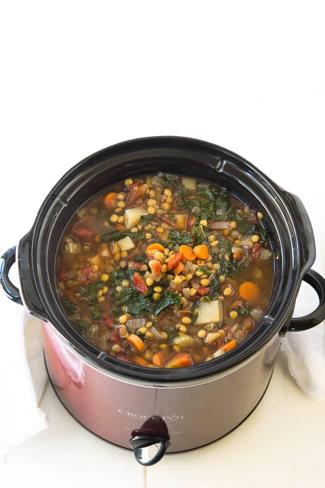 Crockpot Vegetarian Recipes  Crock Pot Ve able Lentil Soup