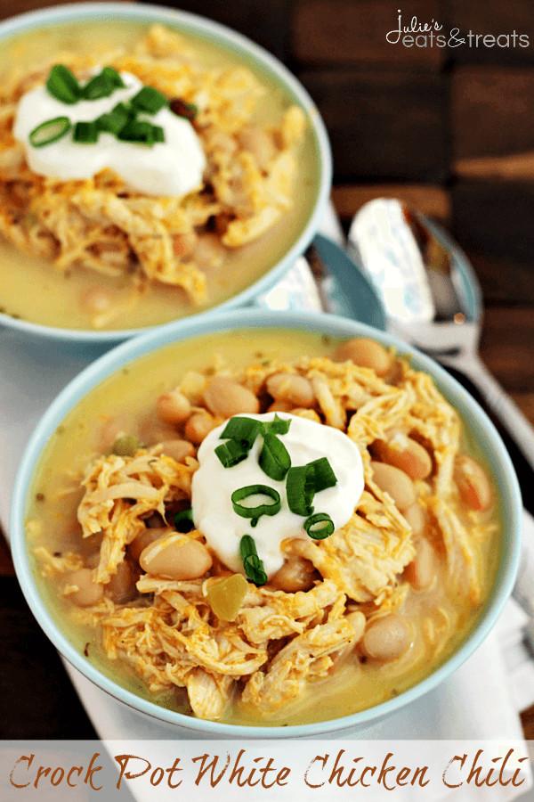 Crockpot White Chicken Chili  Crock Pot White Chicken Chili Julie s Eats & Treats