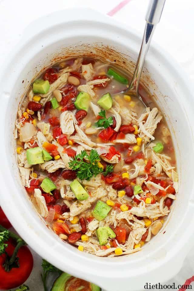 Crockpot White Chicken Chili  Crock Pot White Chicken Chili Recipe