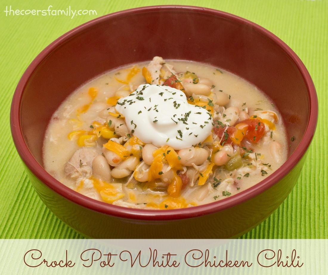 Crockpot White Chicken Chili  Crock Pot White Chicken Chili The Coers Family